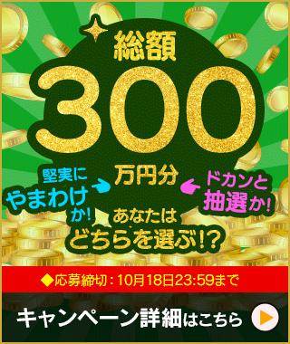 総額300万円分プレゼント!