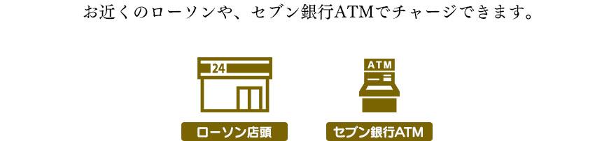 ローソン店頭・セブン銀行ATM